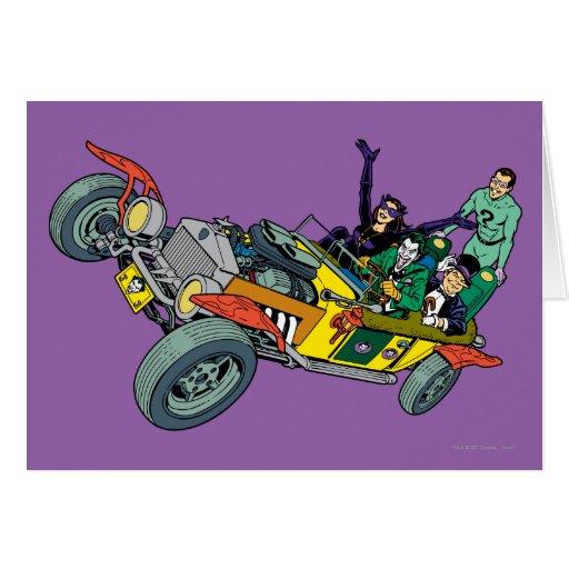 Malvados de Batman en Jokermobile Tarjeta De Felicitación