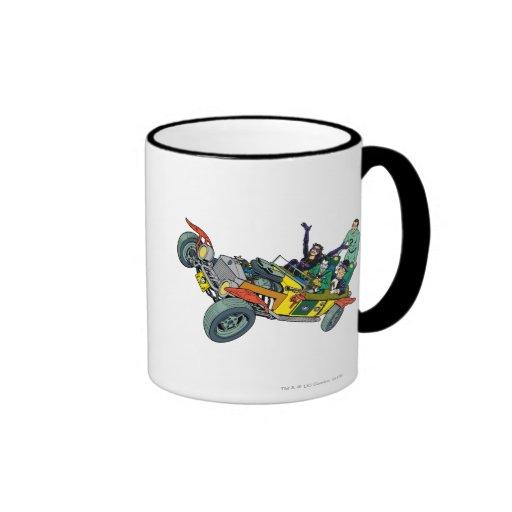 Malvados de Batman en Jokermobile Taza De Café