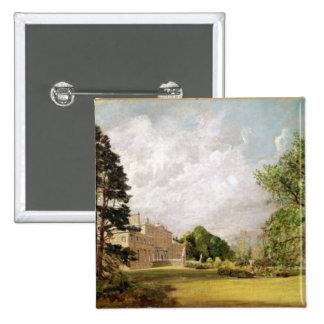 Malvern Hall, Warwickshire, c.1820-21 (oil on canv Pinback Button