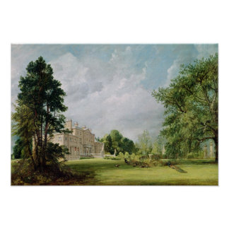 Malvern Pasillo, Warwickshire, 1821 Póster