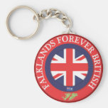 Malvinas para siempre Británicos Llavero Redondo Tipo Pin