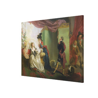 Malvolio before Olivia, from 'Twelfth Night' by Wi Canvas Print