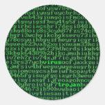 Malware Classic Round Sticker