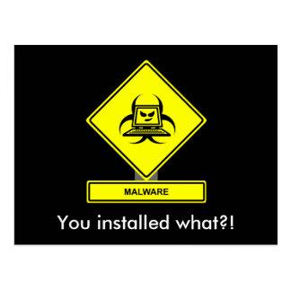Malware Postcard