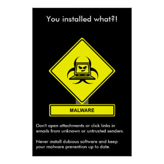 Malware Security Awareness Poster