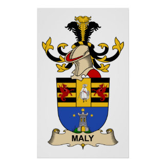 Maly Family Crest Poster