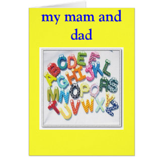 mam and dad greeting card