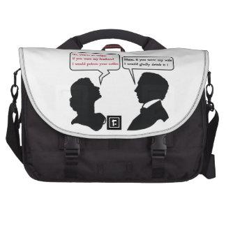 Mam and Sir joke Laptop Commuter Bag