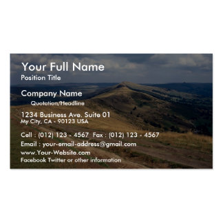Mam Tor and Loose Hill Ridge, Derbyshire Europe Double-Sided Standard Business Cards (Pack Of 100)