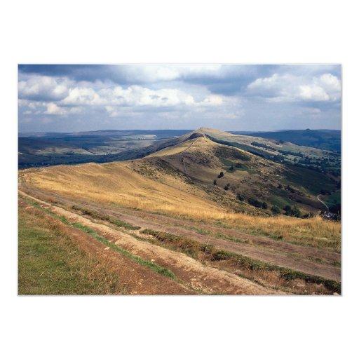 Mam Tor and Loose Hill Ridge, Derbyshire Europe 5x7 Paper Invitation Card