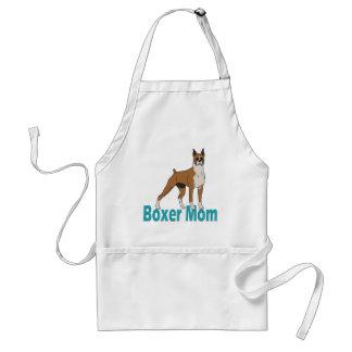 Mamá 1 del boxeador delantal