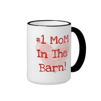 Mamá #1 en el granero tazas
