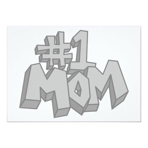 Mamá #1 invitación 12,7 x 17,8 cm