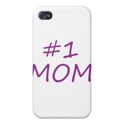 Mamá #1 iPhone 4 protectores