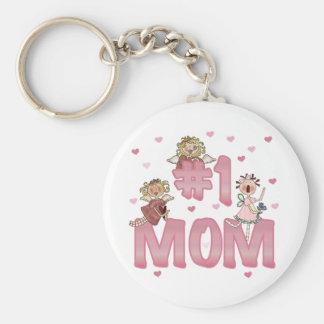 Mamá #1 llavero redondo tipo pin