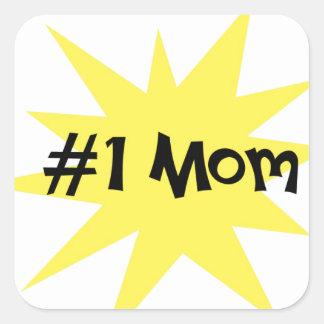 Mamá #1 pegatina cuadrada