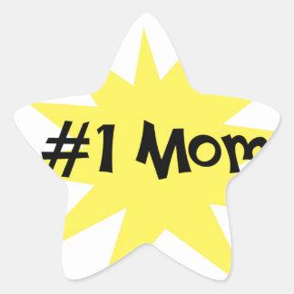 Mamá #1 pegatina en forma de estrella