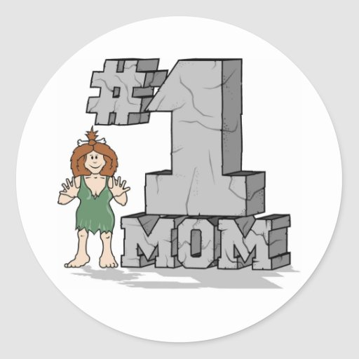 Mamá #1 pegatina redonda
