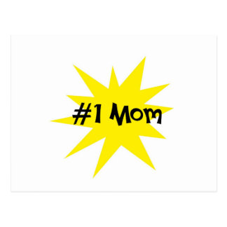Mamá #1 tarjetas postales