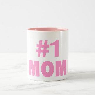 Mamá #1 taza de café de dos colores