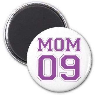 Mamá 2009 - Púrpura Imán Redondo 5 Cm