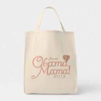 Mamá 2012 de Obama por ButtonZup Bolsa Tela Para La Compra