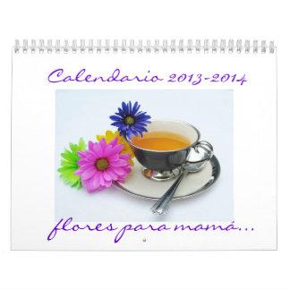 Mamá 2013-2014 de Calendario Flores para del españ