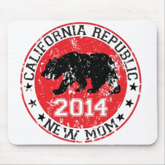 Mamá 2014 de la república de California nueva Alfombrillas De Raton