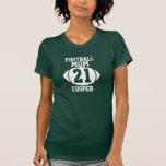 Mamá 21 del fútbol camisetas