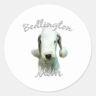Mamá 2 de Bedlington Terrier Etiquetas Redondas