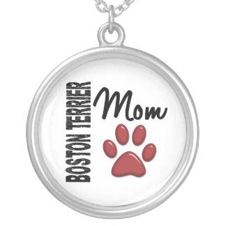 Mamá 2 de Boston Terrier Colgante Redondo