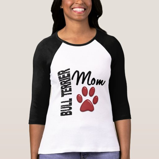 Mamá 2 de bull terrier camisetas
