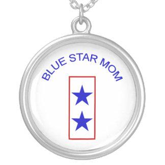 Mamá 2 de la estrella azul collar plateado