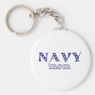 Mamá 2 de la marina de guerra llavero redondo tipo pin