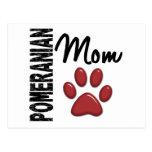 Mamá 2 de Pomeranian Tarjeta Postal