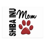 Mamá 2 de Shiba Inu Tarjeta Postal