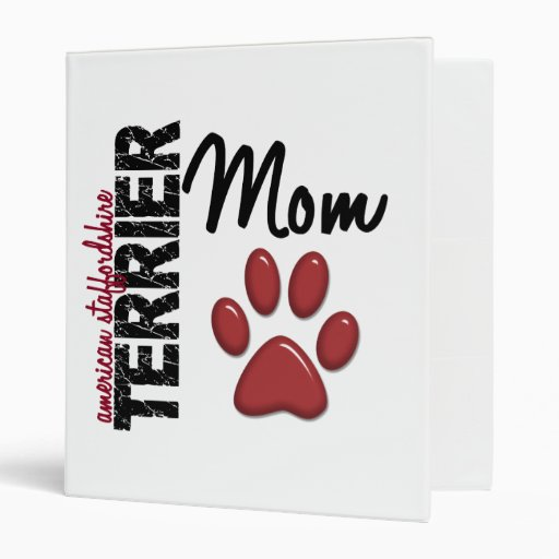 "Mamá 2 de Staffordshire Terrier americano Carpeta 1"""