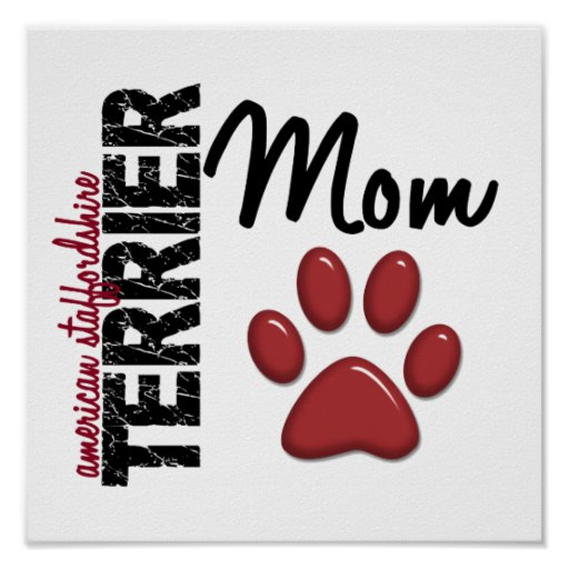 Mamá 2 de Staffordshire Terrier americano Posters