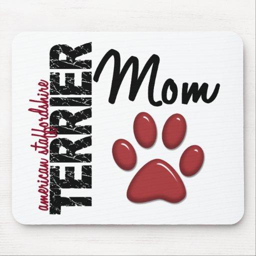 Mamá 2 de Staffordshire Terrier americano Alfombrillas De Ratón
