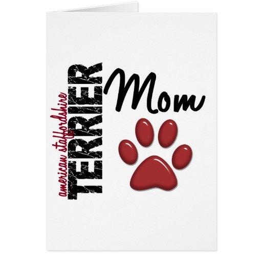 Mamá 2 de Staffordshire Terrier americano Tarjetas