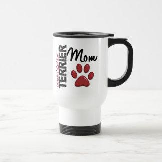 Mamá 2 de Staffordshire Terrier americano Taza De Viaje De Acero Inoxidable