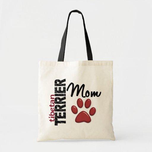 Mamá 2 de Terrier tibetano Bolsas De Mano