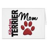 Mamá 2 de Terrier tibetano Felicitacion