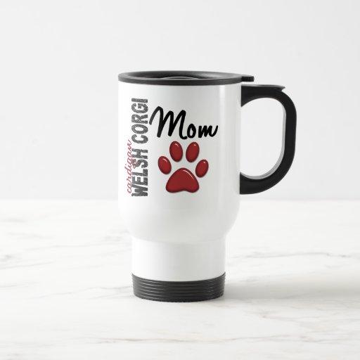Mamá 2 del Corgi Galés de la rebeca Tazas De Café