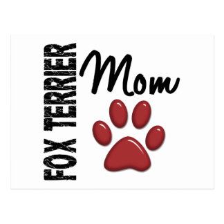 Mamá 2 del fox terrier postales