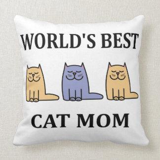 Mamá #2 del gato de Besr del mundo Cojín