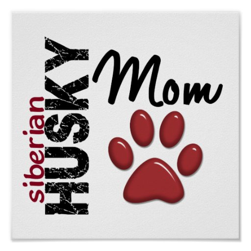 Mamá 2 del husky siberiano póster