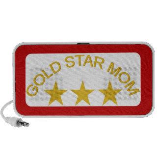 Mamá 3 de la estrella del oro portátil altavoces