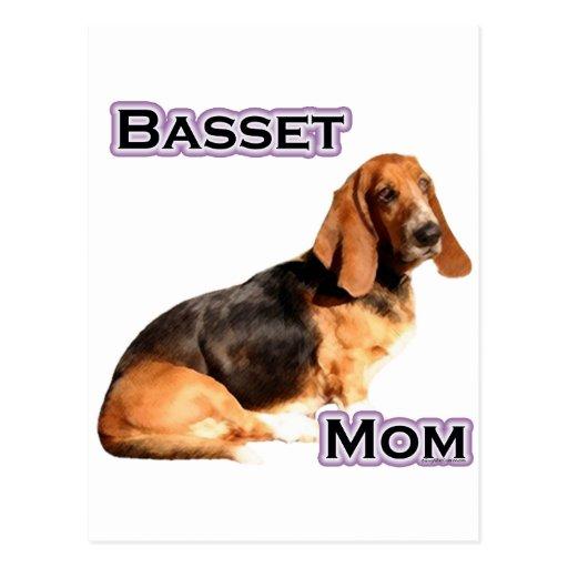 Mamá 4 de Basset Hound Postales