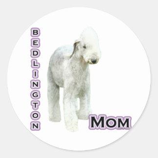 Mamá 4 de Bedlington Terrier - pegatina